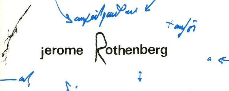 New Arrivals: Jerome Rothenberg