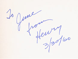 Henry Miller inscription