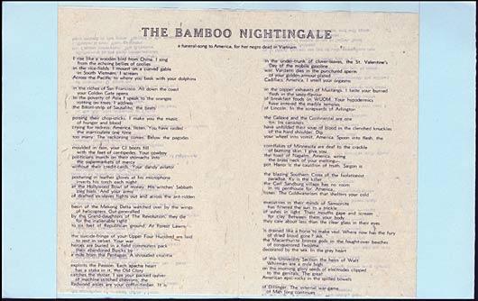MACBETH, GEORGE, - The Bamboo Nightingale.