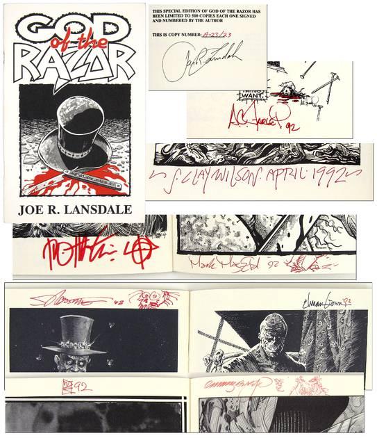 LANSDALE, JOE R., - God of the Razor [Super Limited Edition].
