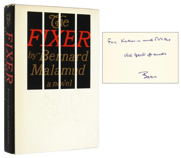 MALAMUD, BERNARD, - The Fixer [Inscribed Association Copy].