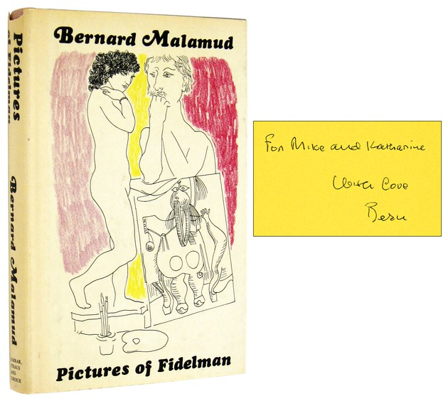 MALAMUD, BERNARD, - Pictures of Fidelman [Inscribed Association Copy].