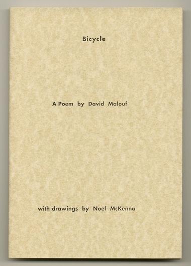 MALOUF, DAVID, - Bicycle.